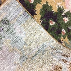 Vintage Dining - Lot of 4 Vintage 50s barkcloth bronco napkins